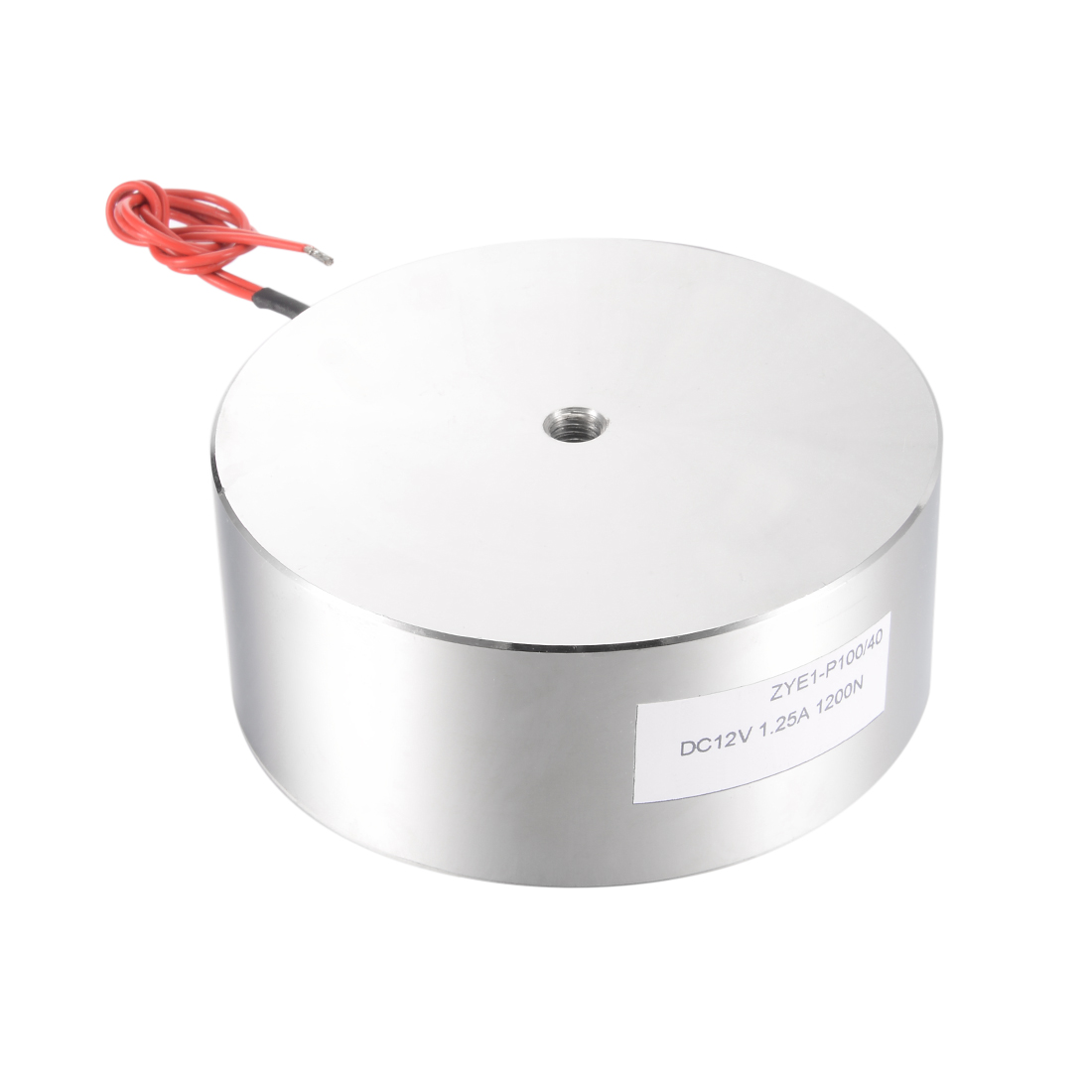 Uxcell 100mm X 40mm DC12V 1.25A 1200N Sucking Disc Solenoid Lift Holding Electromagnet