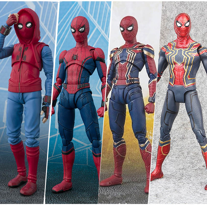 15cm Avengers Super Hero SpiderMan Toys Homecoming Spider Man PVC Action Figure Toys Spider-Man Doll Collectible Model Toys Gift
