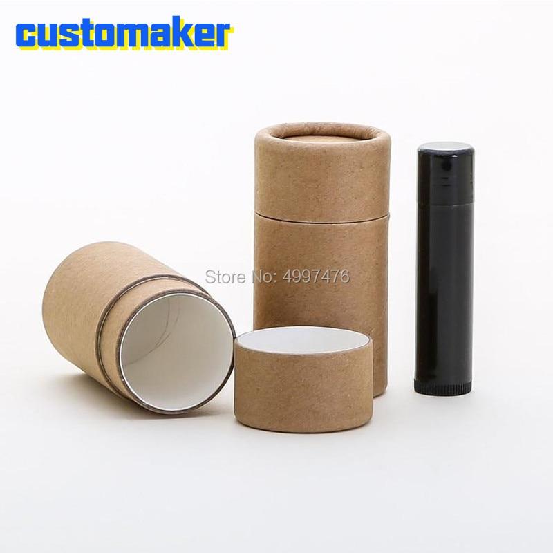 Eco Friendly 40 ML - 50 PCS/LOT Cardboard Deodorant Tube -Kraft - 100% Biodegradable Paper Cardboard Cosmetic Push Up Tube