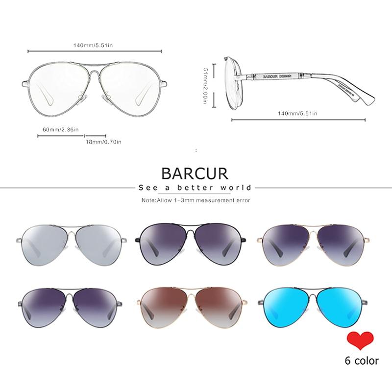 Ha41ab20c1ea146baaa19283974711cf0C BARCUR TR90 Sunglasses Polarized Men's Sun glasses Women Pilot UV400 Mirror Oculos de sol