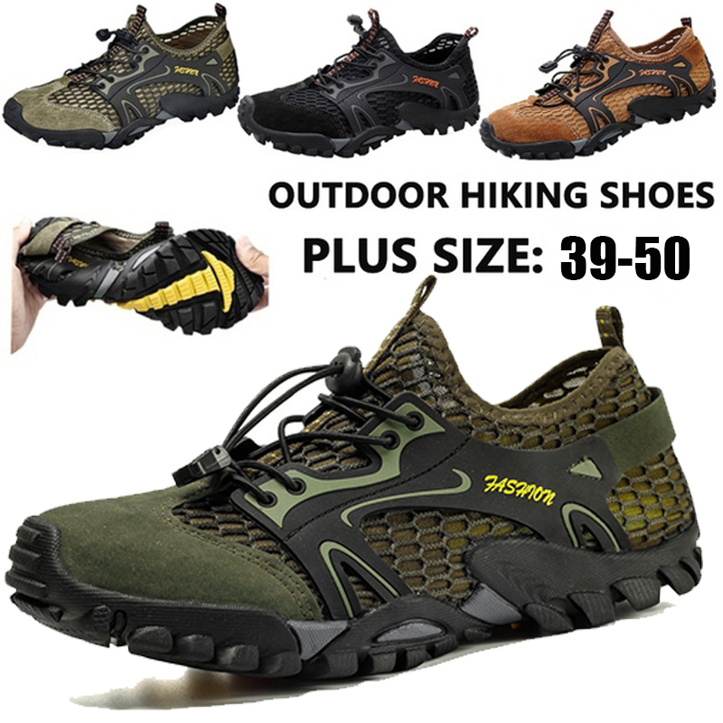 Hot Sale New Fashion Hiking Shoes 2020 Summer Men's Outdoor Climbing Climbing Non-slip Casual Shoes Quick-drying Breathable Sports Shoes