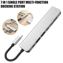 7 in 1 Type-C to HDMI/SD/TF Multiport Adapter Compatible For Windows/Android/Mac OS XPS Computers More Type C Devices