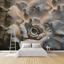 Заказ настенные обои 3D стерео рельеф Роза цветы абстрактного искусства декора кафе ресторан Гостиная Спальня обои