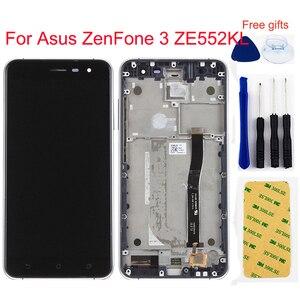 For Asus ZenFone 3 ZE552KL Z012D Z012DC Z012DA LCD Display Monitor Panel + Touch Screen Digitizer Sensor Panel Assembly Frame(China)