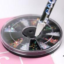 Ferramentas de arte do prego strass gemas picking cristal cera lápis caneta picker decoração da arte do prego ferramenta pontilhar compõem