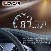 Vjoycar VH300 araba HUD 5.5 Head Up Display OBD II EUOBD cam kilometre projektör araç elektroniği aşırı hız voltaj alarmı