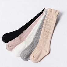 Children Baby Socks Knitted Cotton Long Tube Socks Kids Knee