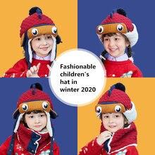 Шапка и шарф для мальчиков девочек теплая шапка с 3d рисунком