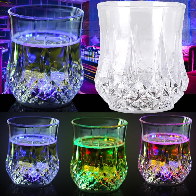 Magic Luminous Flashing Glasses LED Cup Water Sensor Bar Decoration 200ml