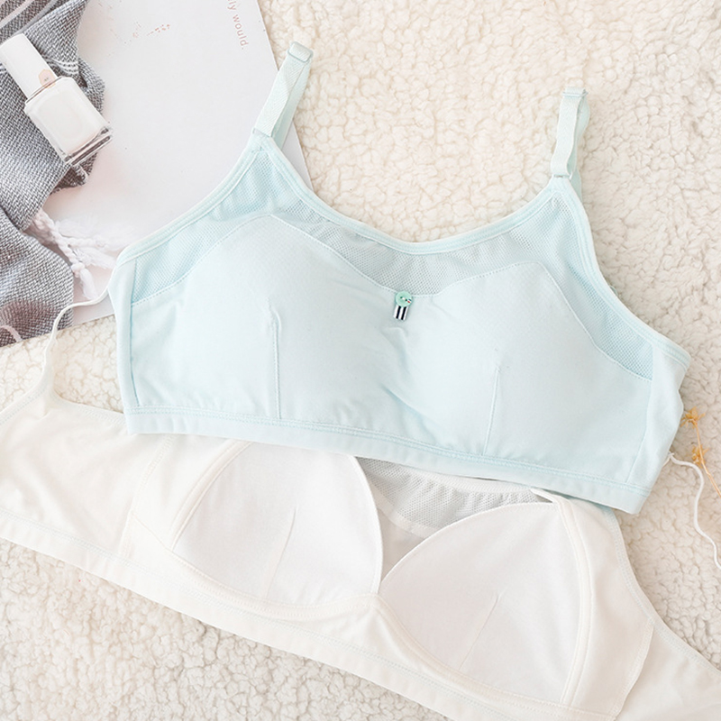 Teens Sports Training Vest Underwear 4Pcs//Lot Young Girls Bra Puberty Bra with Removable Padded for Puberty Girls