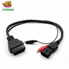 Für Fi-zu 3pin Lancia FÜR Alfa Romeo 3 pin OBD2 OBD 16 pin tool adapter kabel