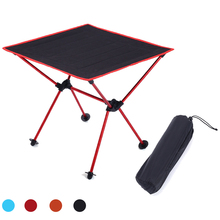 HooRu Aluminum Lightweight Table Fishing Picnic Beach Folding Table Outdoor Portable Backpacking Camping Roll-up Foldable Desk