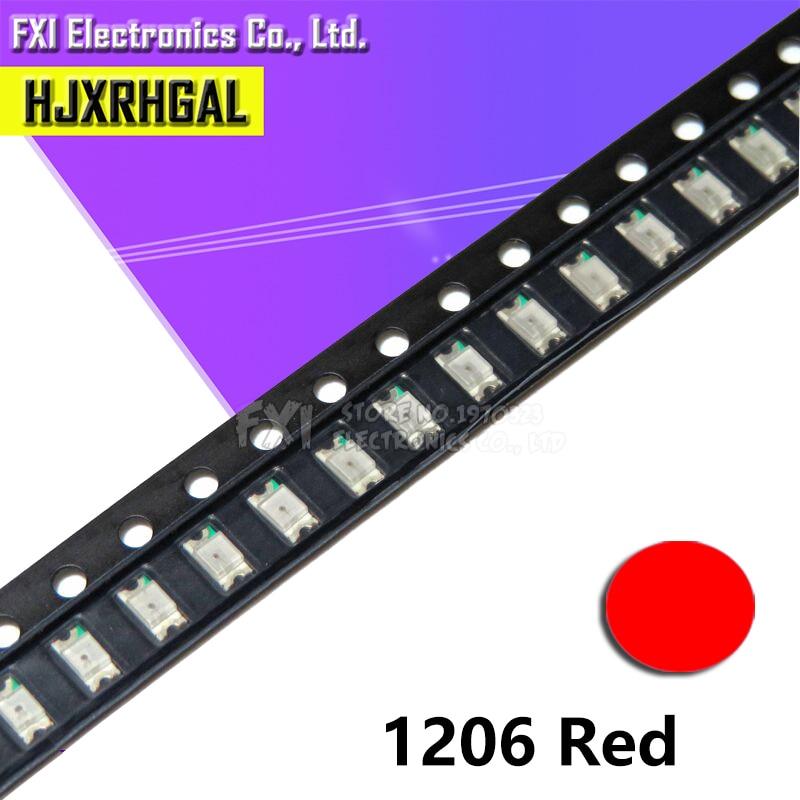 100pcs red 1206 SMD LED diodes light Hot sale
