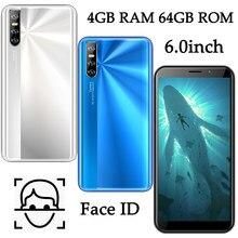 6.0 polegadas tela z10 face id desbloqueado smartphones quad core android 4gb ram 64gb rom global telefones celulares mtk celulares