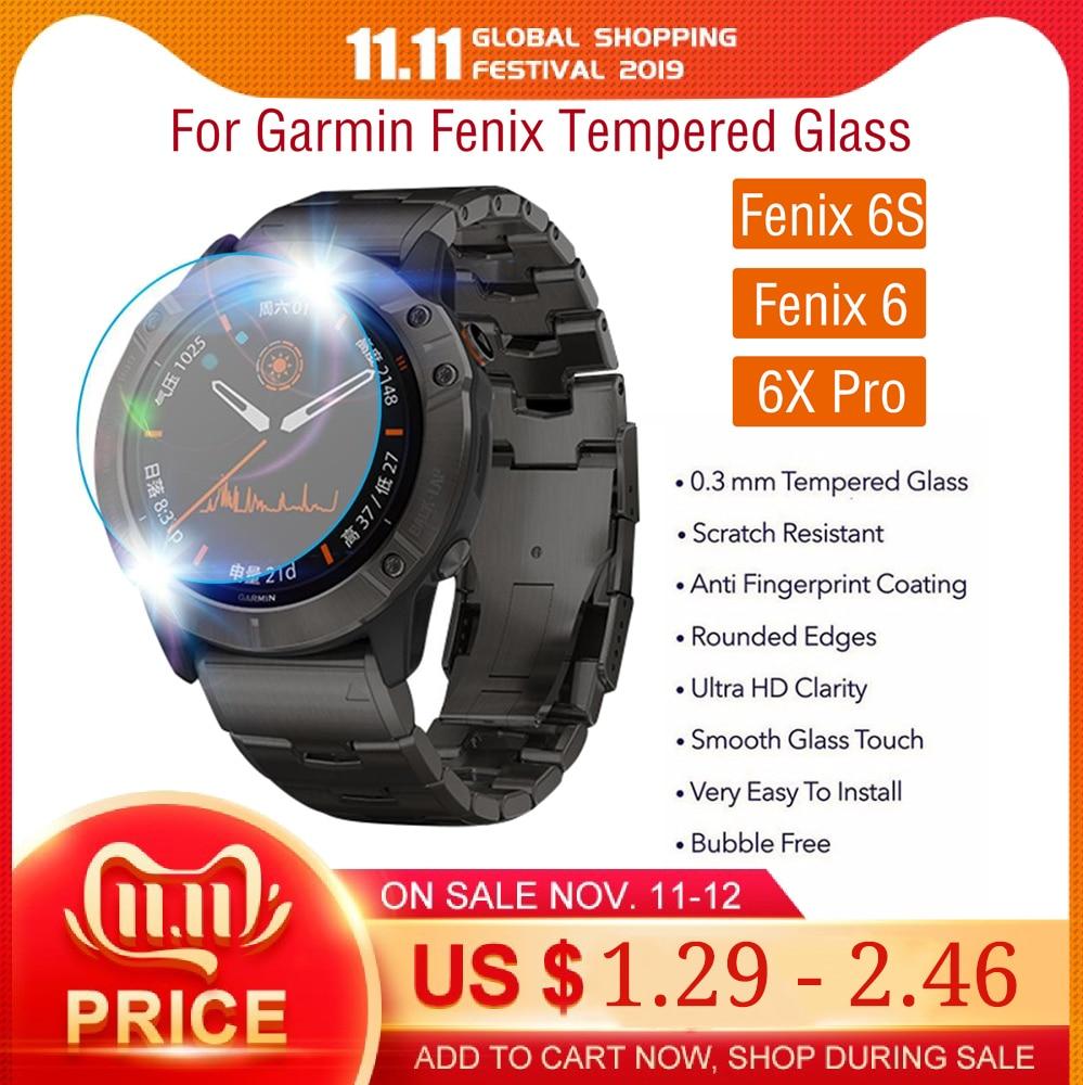 Film For Garmin Fenix 6 Pro / Fenix 6S Pro Tempered Glass Premium Screen Protector Film Garmin Fenix 6X Pro Solar SmartWatch