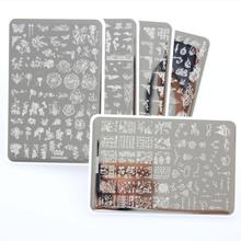 Nail-Beauty Template ZJOY Flower Geometric Custom-Design And Stamping for DIY Stainless-Steel