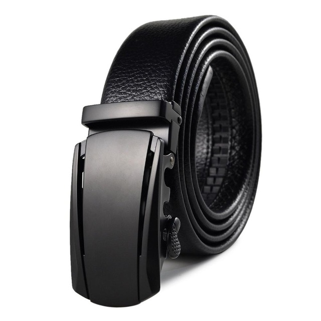 2019 leather Quality Automatic Buckle black Belts Cummerbunds cinturon hombre Men Belt Male Genuine Leather Strap Belts For Men