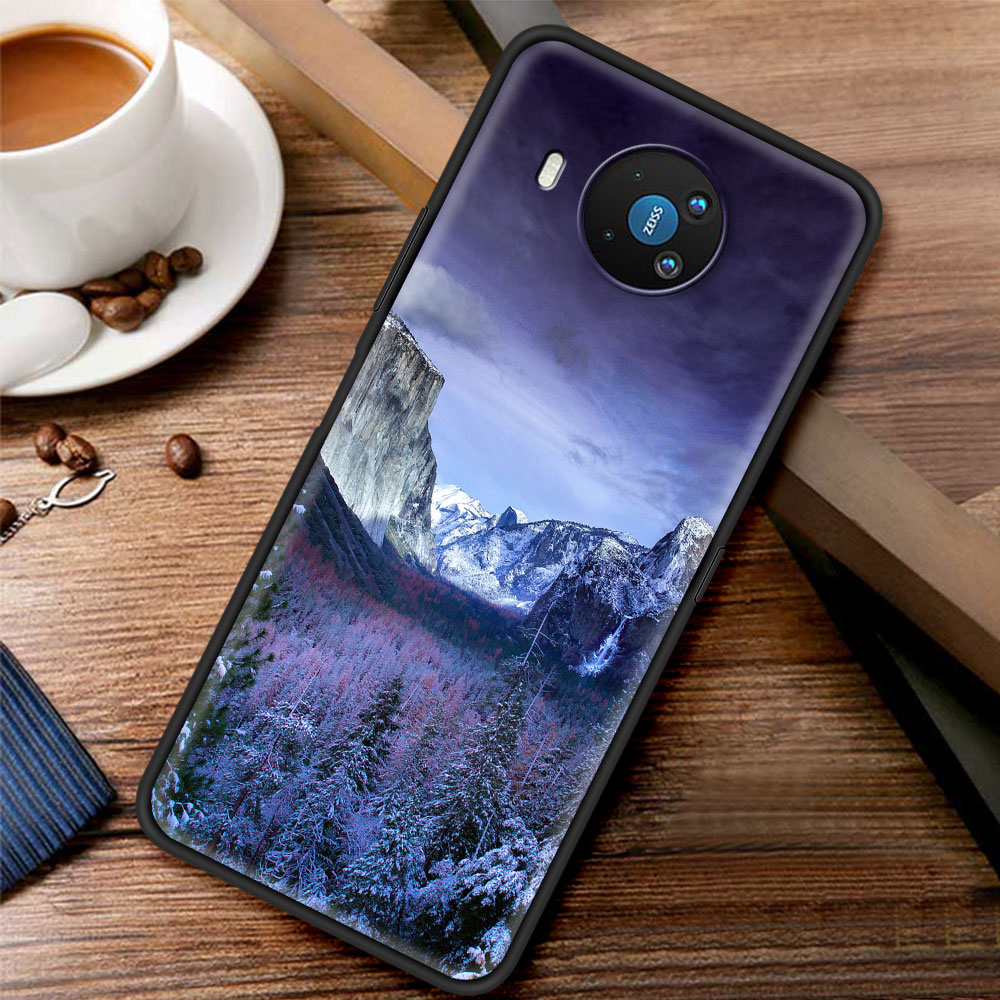 Mountain Peak Forest Silicone Case Funda For Nokia 2.2 2.3 3.2 4.2 7.2 1.3 5.3 8.3 5G 2.4 3.4 C3 C2