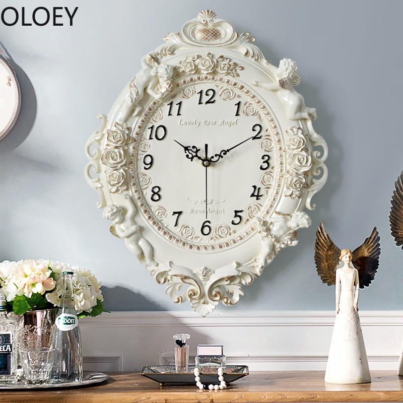 Nordic Luxury Wall Clock White Big 3d Home Decor Living Room Clocks Wall Bedroom Silent Reloj De Pared Metal Wall Clock Large