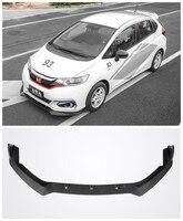 3Pcs/1Ser ABS Paint Car Bumper Front Lip Protector Fits For HONDA FIT JAZZ GK5 2014 2015 2016 2017/2018 2019