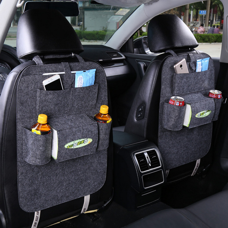 Car Seat Back Bag Stowing Tidying Seat Organizer Hanging Bag Thick High Quality Car Multi-function Storage Box