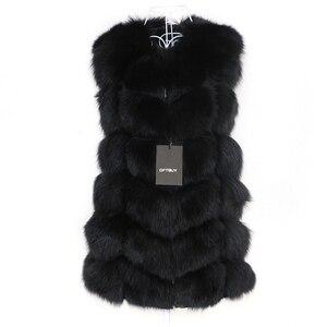 Image 3 - OFTBUY Chaleco de piel de zorro Real para mujer, chaqueta de invierno sin mangas, abrigo de piel Natural, chaleco calentador, ropa de calle cálida gruesa