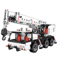 Mitu Blocchi di Costruzione di Robot Auto Camion In Miniatura Città di Ingegneria Gru 360 Rotante di Comando Dello Sterzo Educational FAI DA TE Giocattoli