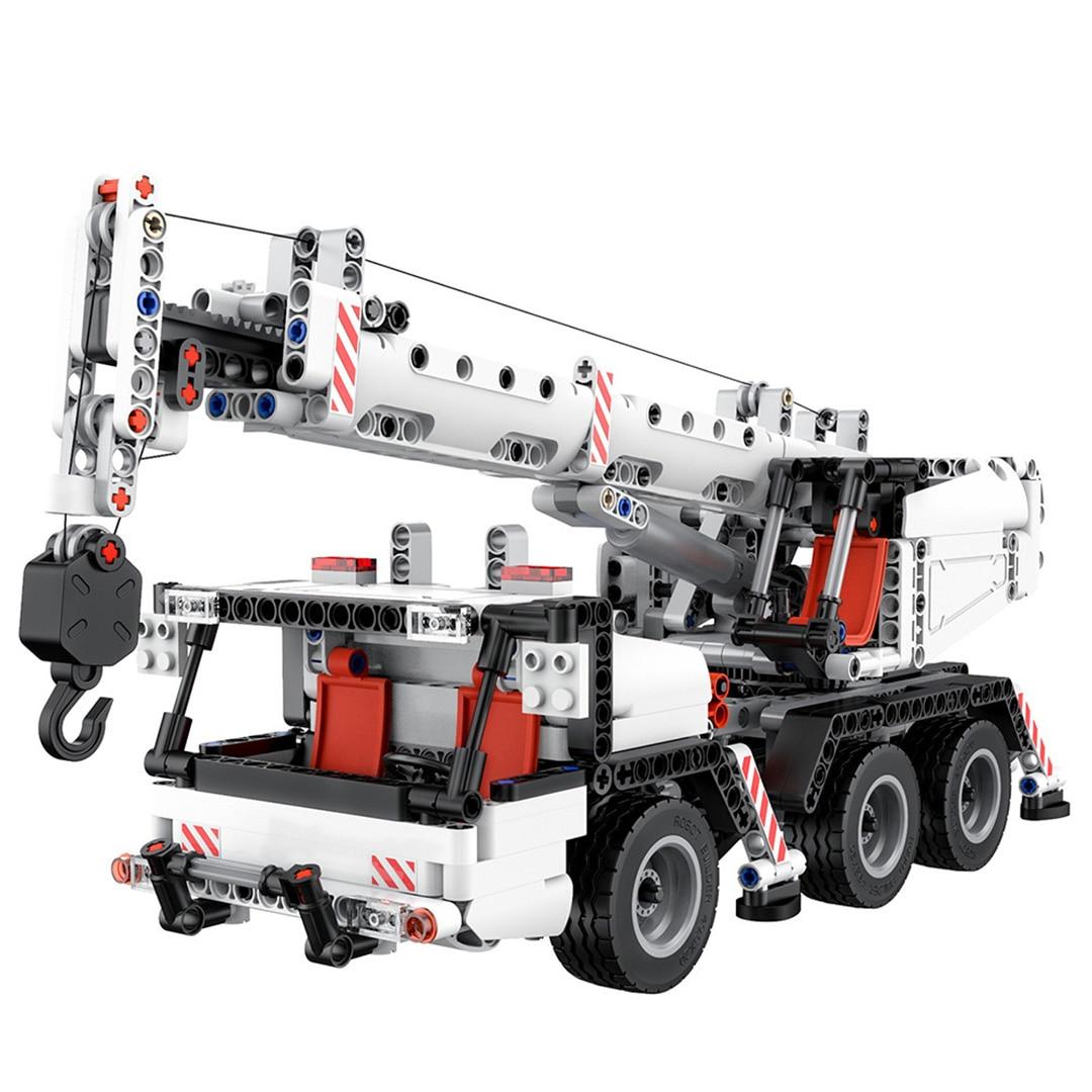 Mitu Blocos de Construção do Robô Carro Caminhão Guindaste Engenharia de Cidade Em Miniatura 360 Girando o Controle de Direção DIY Brinquedos Educativos
