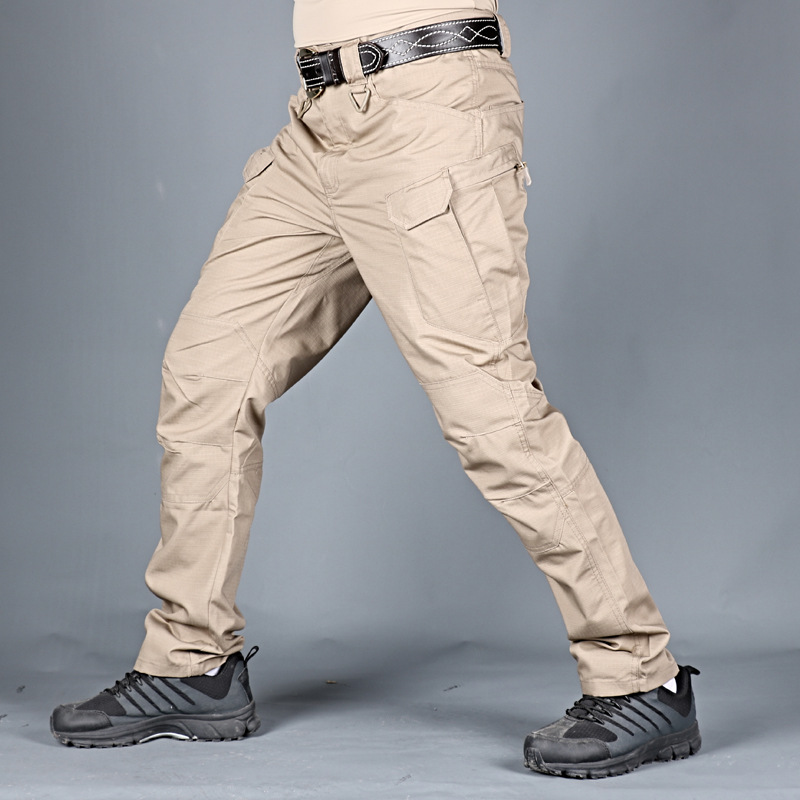 Tactical Pants Spring Male Commando Camouflage Pants Bib Overall Autumn Outdoor Multi-pocket Trousers Wear-Resistant Ix7 Trainin