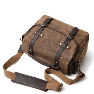 Image 4 - DSLR Camera Bag Fashion Grazy Horse Leather Shoulder Bag Hand Bags For Canon Nikon Sony Lens Pouch Bag Waterproof Photo Bag