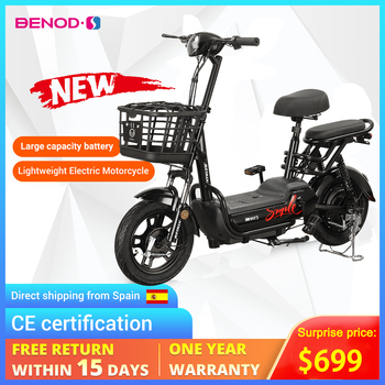 BENOD 350W Electric Scooter Hight Power 25KM/H Motorbike Vehicle Moto Electrique Large Capacity Electr Dirt Bike For Adult