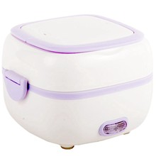 Portable Electric Heating Lunch Box Food-Grade Food Container Food Warmer Multifunctional Food Steamer Mini Rice Cooker-Us Plug(China)