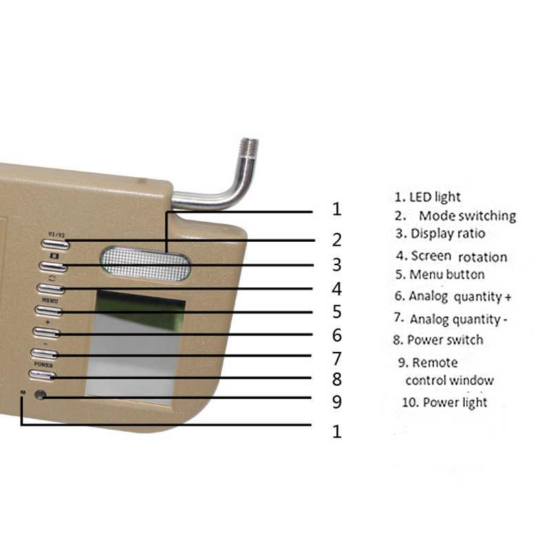 7 Cal osłona przeciwsłoneczna wyświetlacz osłona przeciwsłoneczna wyświetlacz samochodowy wyświetlacz 2 kanał wyświetlanie wideo cofania samochodu dla pierwszego oficera