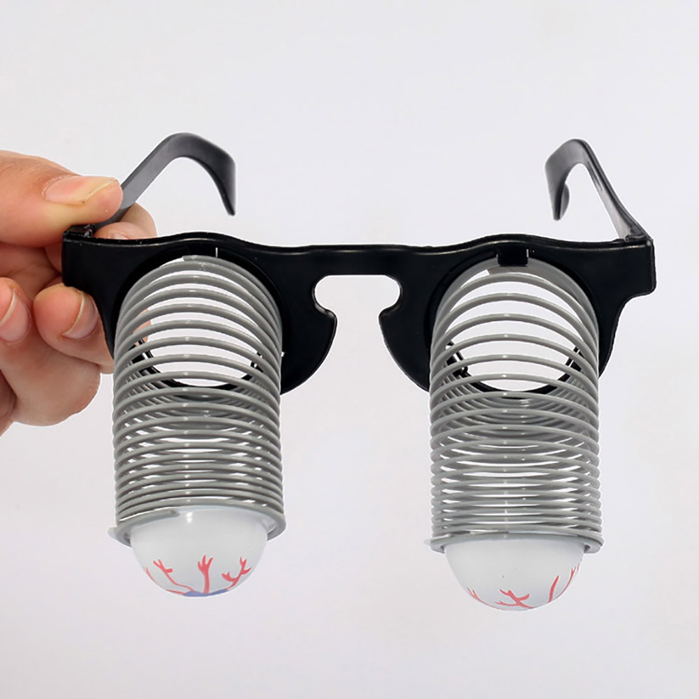 1PC The Eye Playing Spoof Tricky Funny Spring Glasses Toy For Halloween And April Fools Day