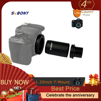 SvBony 1.25 Inch Extension Tube Adapter CA1 Astronomy Telescope M42 Thread T-Mount +T2 Ring for Telescope/Camera F9105A - discount item  27% OFF Camping & Hiking