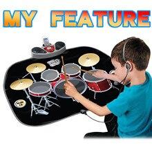 2 в 1 Детский Электрический танцевальный коврик Домашний Многофункциональный джазовый барабан Электрический Пианино музыкальный игровой к...