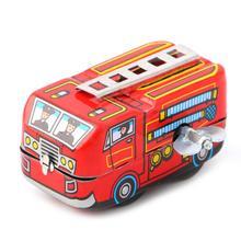 Детский винтажный пожарный автомобиль грузовик заводная модель игрушки подарки