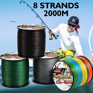 Image 4 - fishing braid line 1500m 2000m wire durable sea ocean ice fishing pe line  fishing all 8 weaves ultra high strength  8 300LBS
