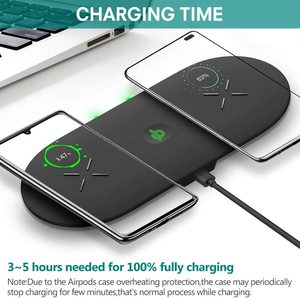 Image 3 - Phone Battery Charger 3 in 1 Qi Wireless Charger 10W Induction Stand Wireless Charging Pad Holders For iPhone 11 12 Pro  Airpods