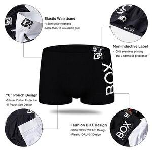 Image 2 - 4 개/몫 Boxershorts 남자 복서 남성 속옷 남자 팬티 코튼 소프트 짧은 복서 메쉬 망 Hombre Cueca 플러스 크기 OR212