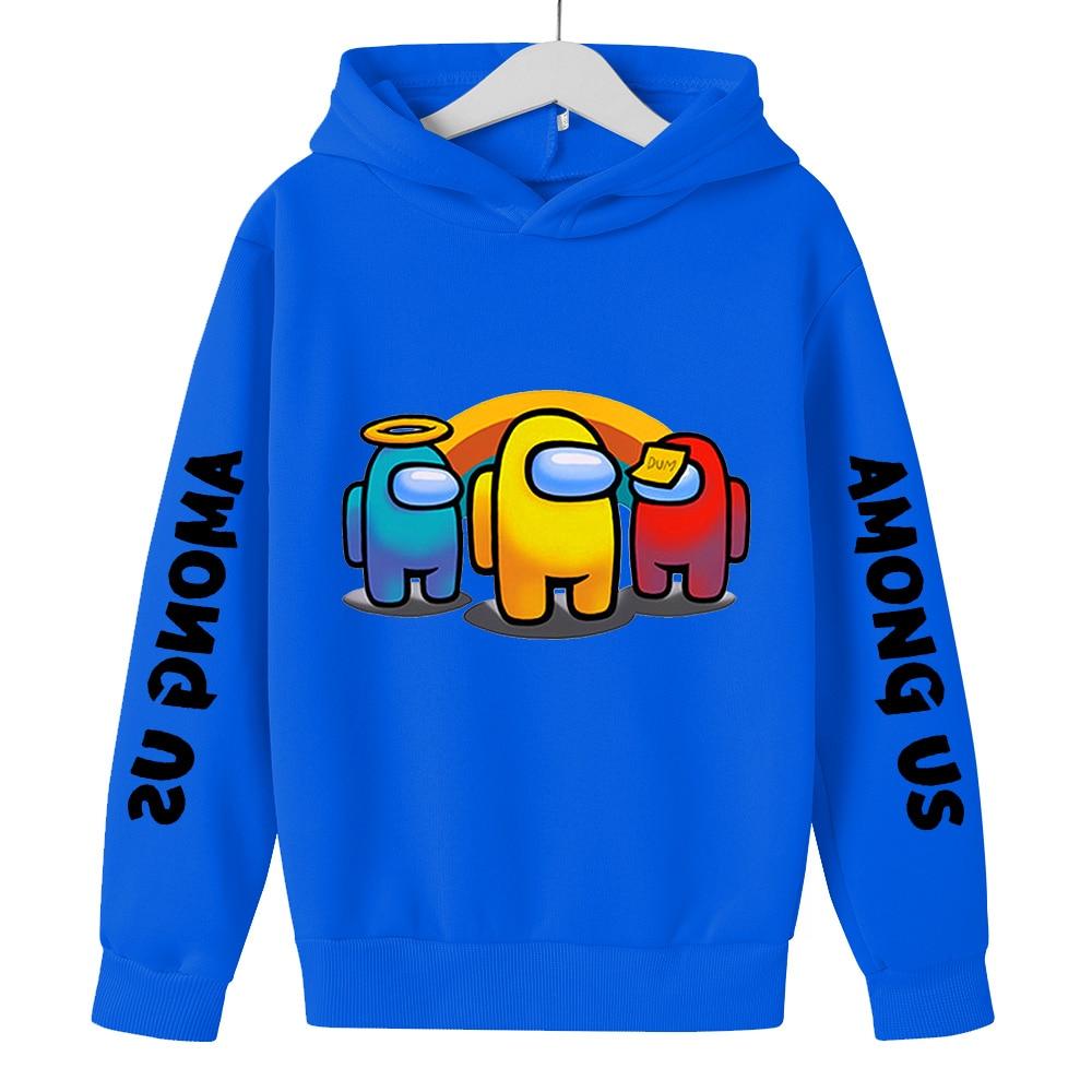 2021 Spring Autumn New Boys Sweatshirt Hoodies Among us Cartoon Characters Children Hoodies Casual Children's Wear