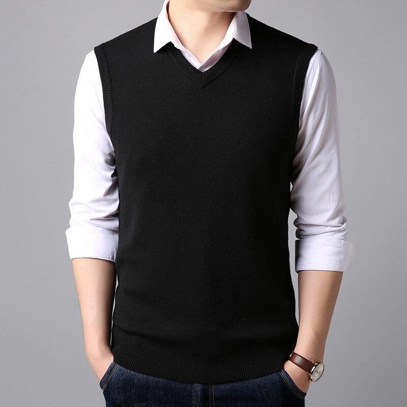 MRMT 2019 Brand New Sweater Vest Men's T Shirt  Vest V-neck Pullover Wool Sweater T-shirt For Male Vest Tops Tshirt