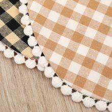 2020 Baby Feeding Bibs Tassel Double-deck Cotton Linen Burp Cloths Saliva Towel 40JC