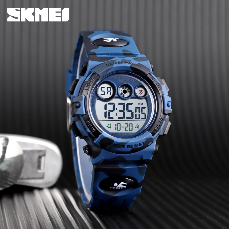 SKMEI Sport Kids Watches Young And Energetic Dial Design 50M Waterproof Colorful LED+EL Lights relogio infantil 1547 Children's