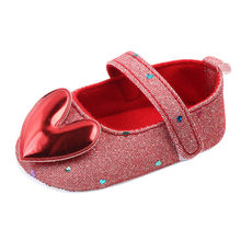 Baby Shoes Infant Girls Indoor Soft-Soled Heart-Shaped Princess Shoes Baby Walking Shoes zapatos bebe детская обувь ##0(China)