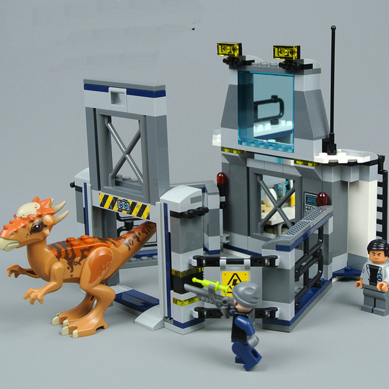 10922 234pcs Jurassic World 2 Stygimoloch Breakout Dinosaur Building Block Compatible With Legoinglys Brick Toys For Children