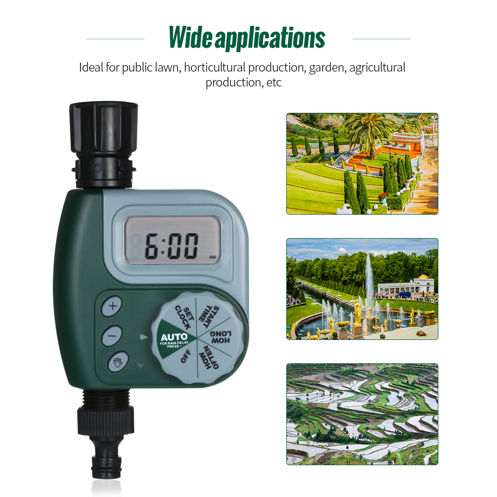 Irrigation-Controller Watering-Timer Garden Automatic Outdoor Battery-Green Without