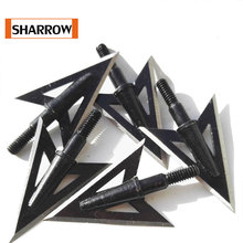 3/6pcs Fishing Stainless Steel 2 Fixed Blade Broadheads Arrow Head Hunting Point Special Arrows Fish Shooting Training цены