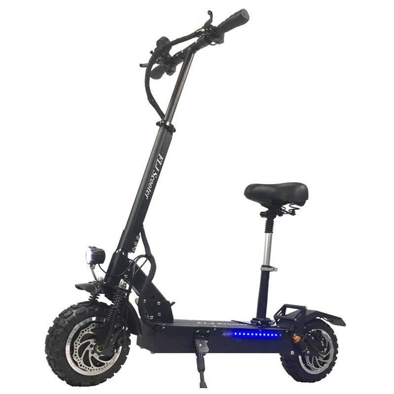 FLJ T113 60 V/3200 W double moteur Scooter électrique avec la plus forte puissance double moteurs 11 pouces hors route pneu LG batterie coup de pied scooters