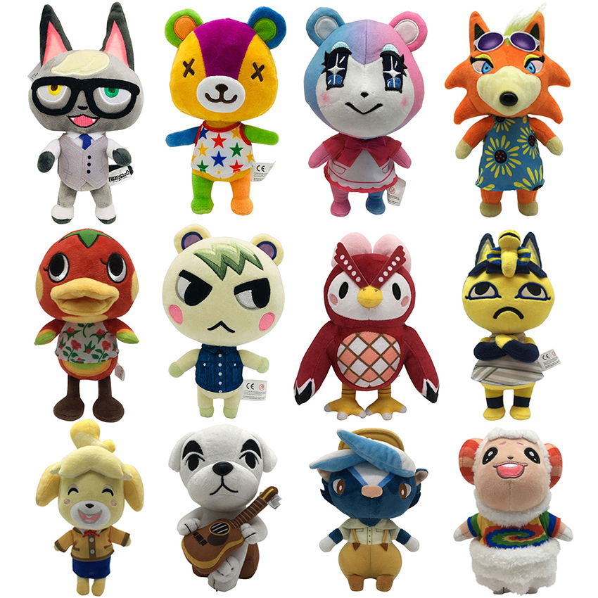 Hot Animal Crossing Plush toy New Horizons Game Amiibo Plush toy Doll For NS Switch 3DS Game NFC Plush toy